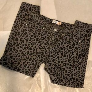 Royalty For Me - Mid Rise Animal Print Ankle Jeans